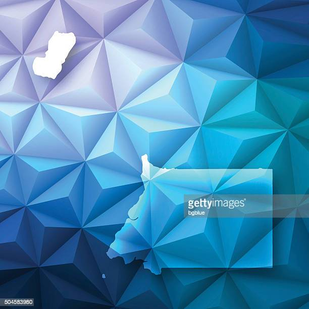 stockillustraties, clipart, cartoons en iconen met equatorial guinea on abstract polygonal background - low poly, geometric - bloco