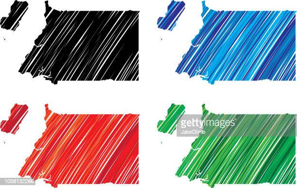 stockillustraties, clipart, cartoons en iconen met equatoriaal-guinea scribble - bloco