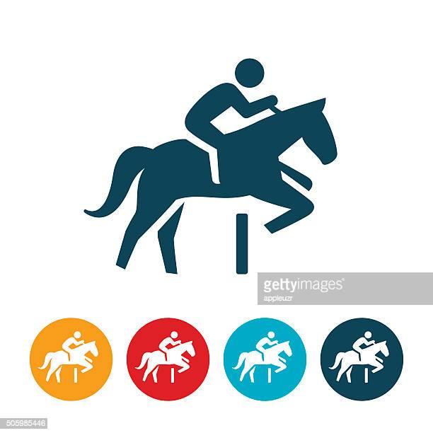 equestrian icon - horseback riding stock illustrations, clip art, cartoons, & icons
