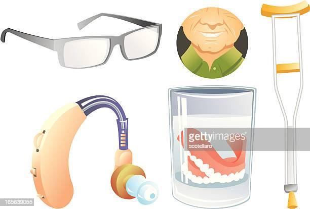 illustrations, cliparts, dessins animés et icônes de ortopédico equipo t - prothèse auditive