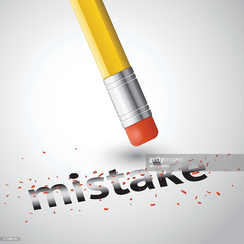 Erase mistake isolated