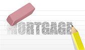 erase mortgage concept illustration design over a white background