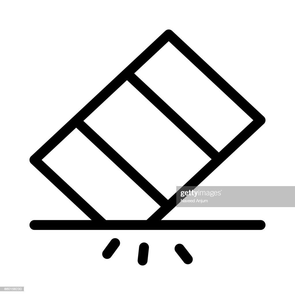 eraser Vector Thin Line Icon