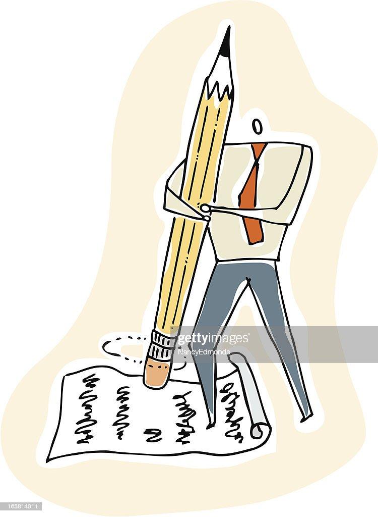 Erasing Man : stock illustration