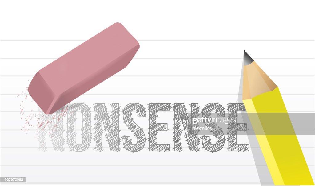 erasing nonsense concept illustration design over a white background