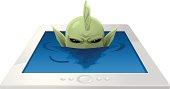 E-reader - lagoon monster