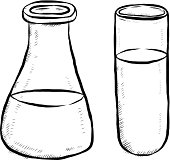 erlenmeyer flask and test tube