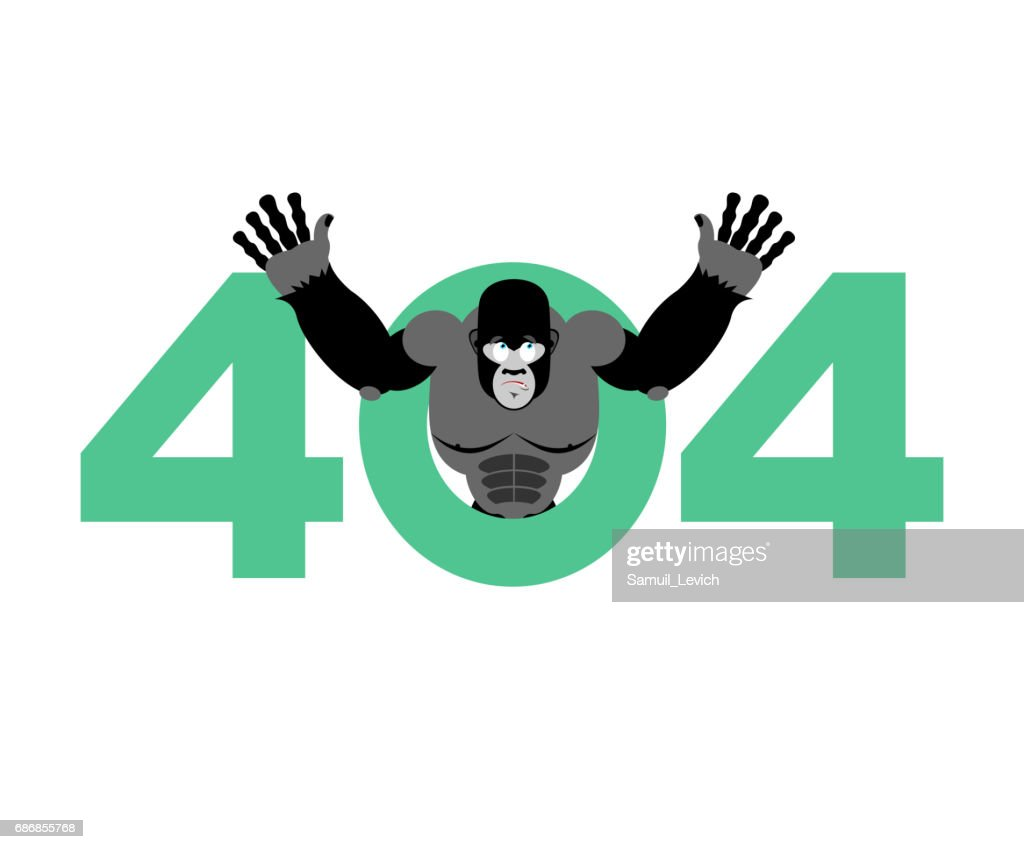 error 404 monkey surprise page not found template for web site