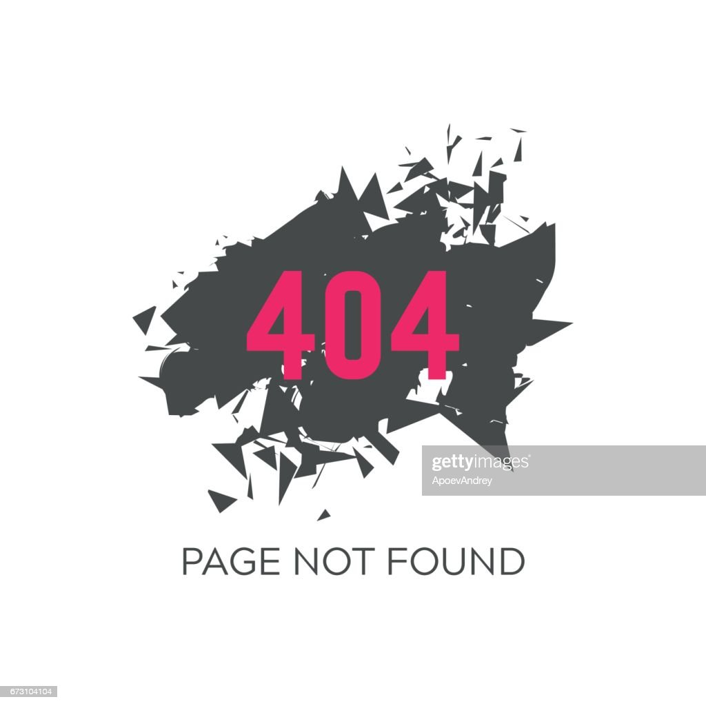 Error 404 Page Not Found Vector Art Getty Images