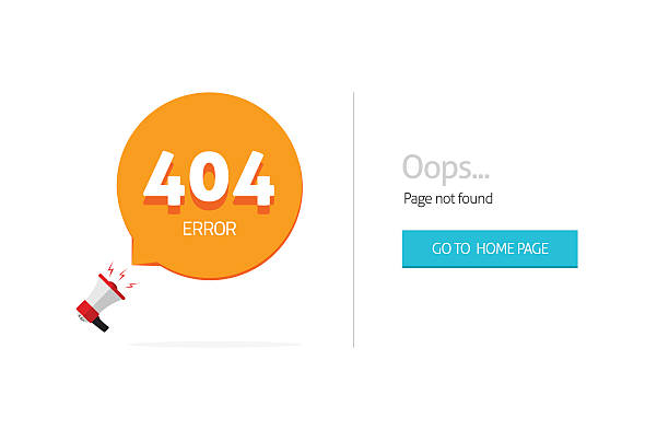 error 404 page vector template with oops not found text
