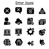 Error icon set