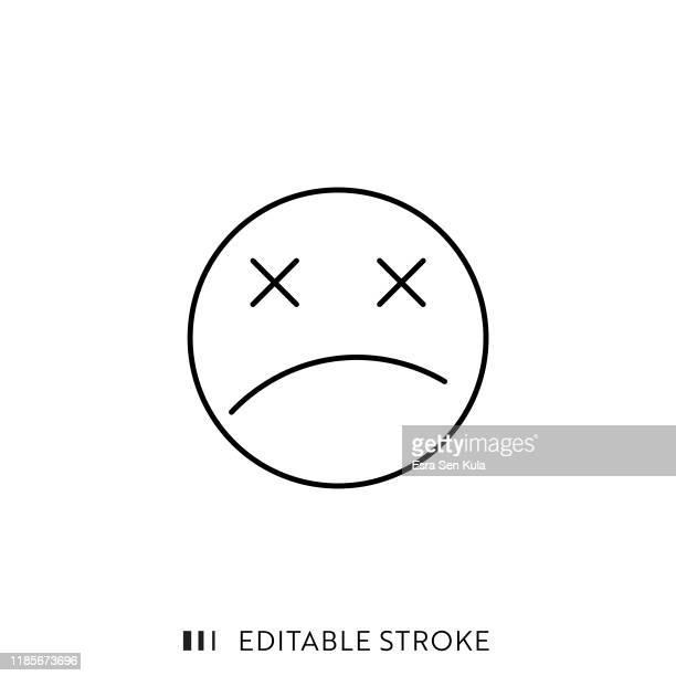 stockillustraties, clipart, cartoons en iconen met 404 foutpagina pictogram met bewerkbare lijn en pixel perfect. - foutmelding