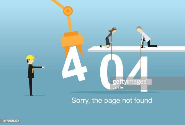 ilustrações, clipart, desenhos animados e ícones de página de erro 404 não encontrado - mensagem de erro