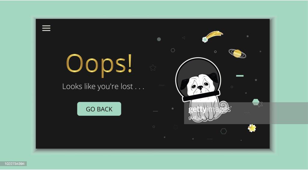 404 error page : stock vector