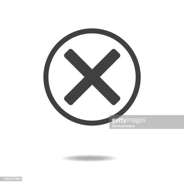 error symbol icon - glühend stock illustrations