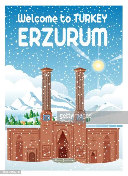 illustrations, cliparts, dessins animés et icônes de erzurum - événement sportif d'hiver