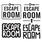 Escape room. Vector illustrations on white background.