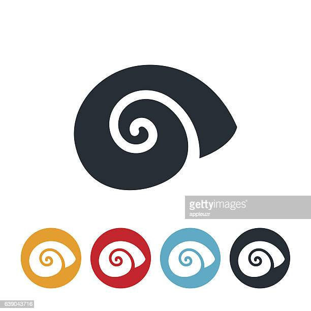 illustrations, cliparts, dessins animés et icônes de escargot icon - escargot