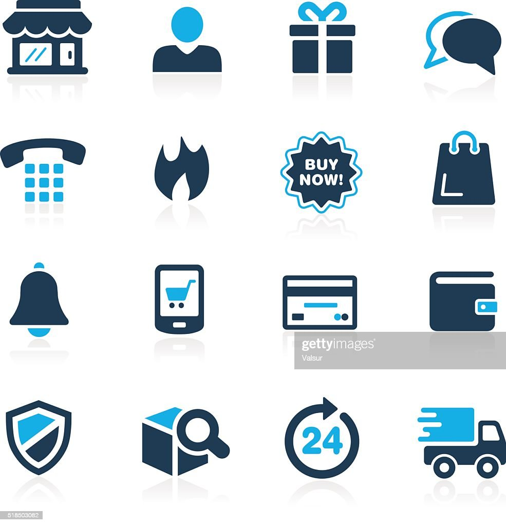 E-Shopping Icons - Azure Series