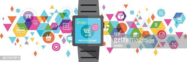 E-shopping on smart watch