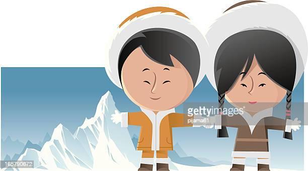 eskimo - braided hair stock illustrations, clip art, cartoons, & icons