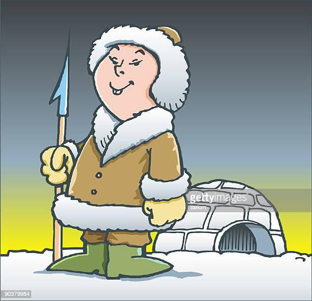 illustrations, cliparts, dessins animés et icônes de du groenland - igloo