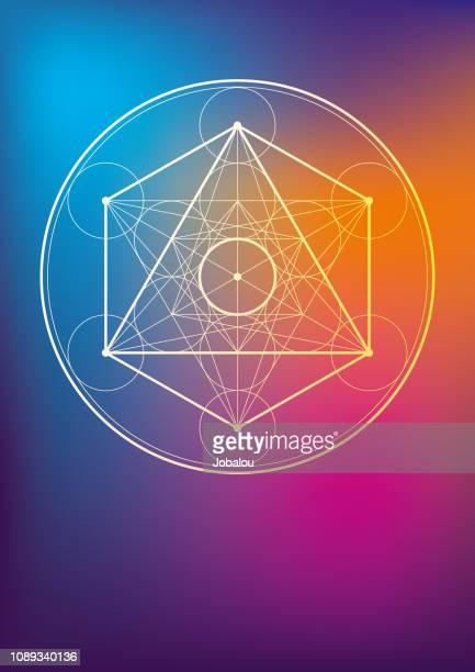 illustrations, cliparts, dessins animés et icônes de symbole géométrique ésotérique - chakra