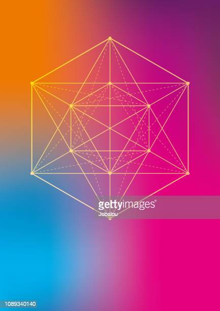 esoteric geometric symbol - fractal stock illustrations