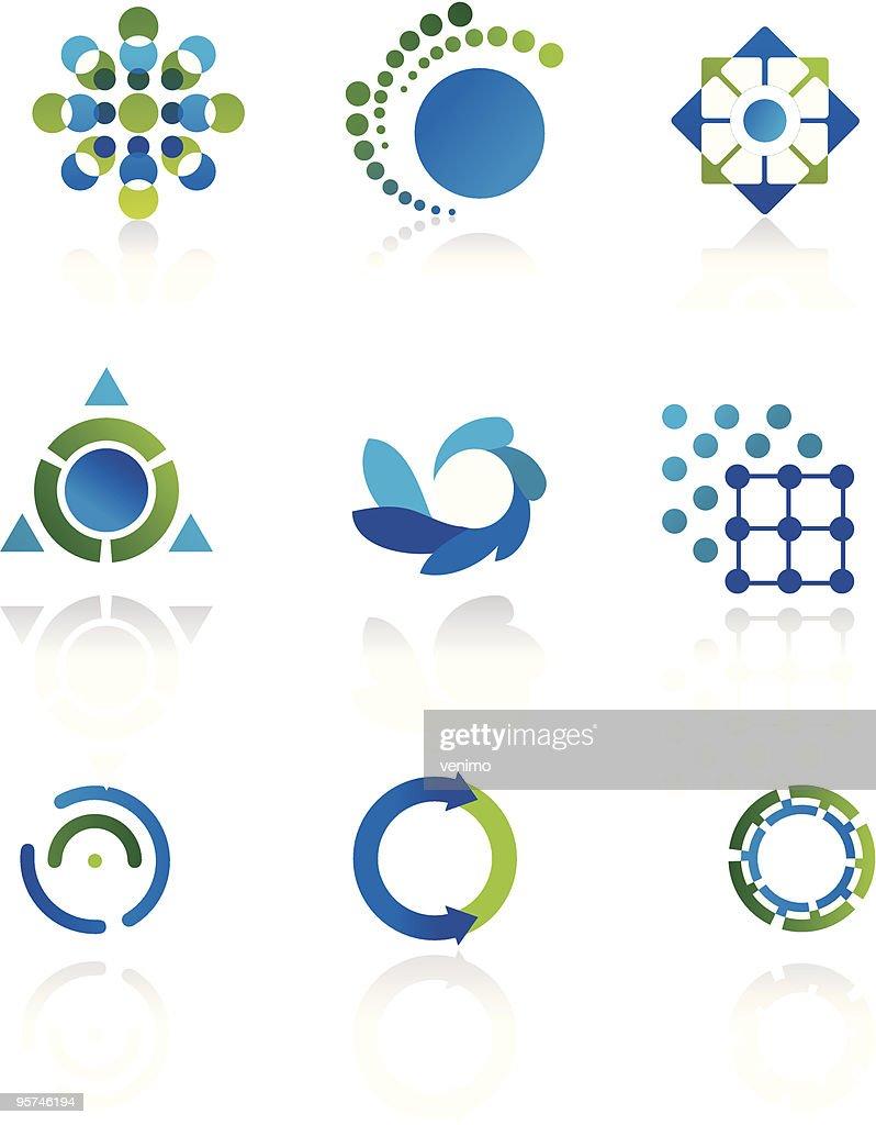 Esoteric icons created geometric symbols