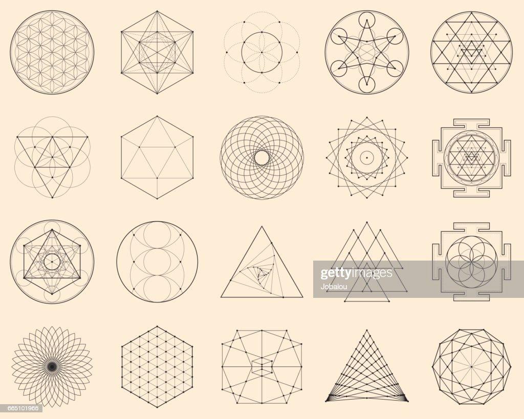 Esoteric Spiritual Geometry : stock vector