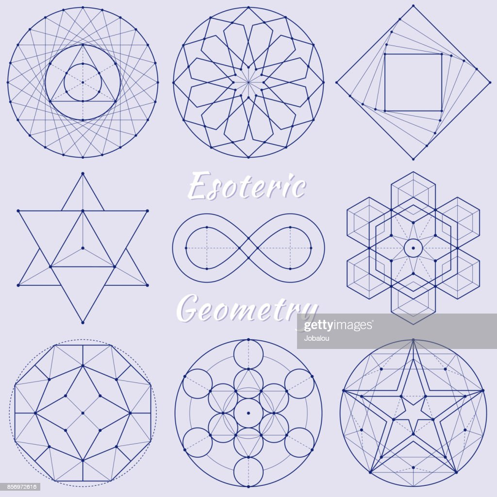 Geometría espiritual esotérica : Ilustración de stock