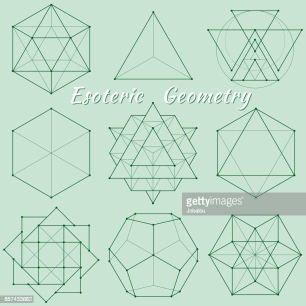 esoteric spiritual geometry - spirituality stock illustrations, clip art, cartoons, & icons