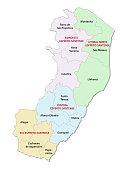 espirito santo administrative and political vector map