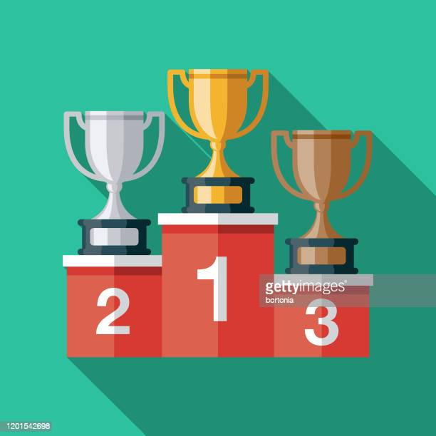 esports awards podium icon - winners podium stock illustrations
