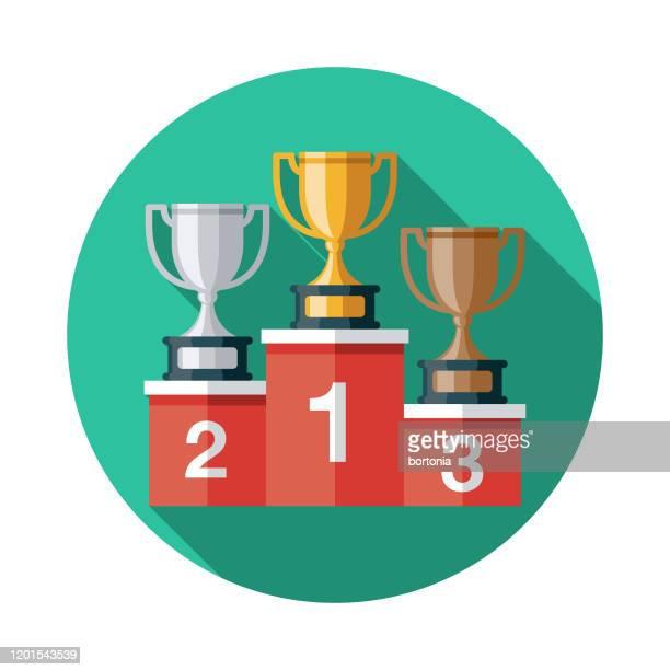 bildbanksillustrationer, clip art samt tecknat material och ikoner med esports awards podium ikon - tredje plats