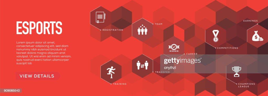 E-Sports Banner Design : stock illustration
