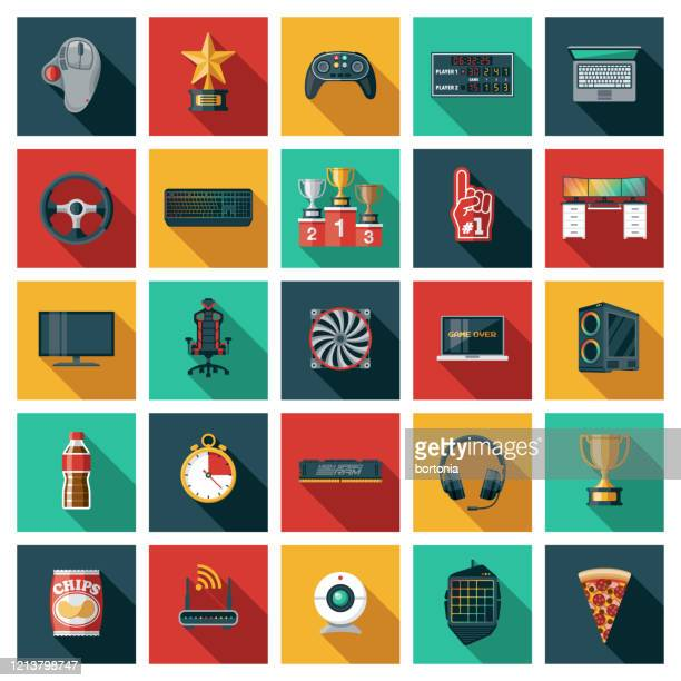 esports icon set - sports round stock-grafiken, -clipart, -cartoons und -symbole