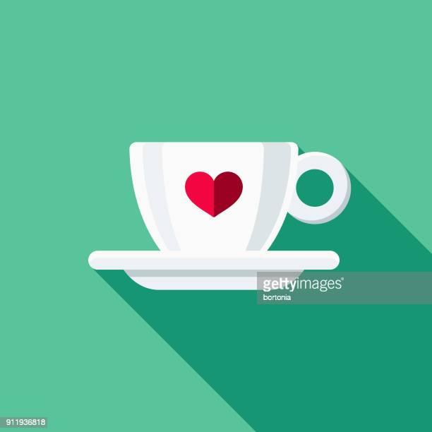 espresso cup flat design coffee & tea icon - cup stock illustrations