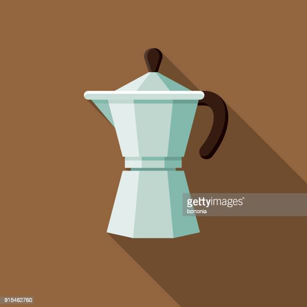 Espresso Maker Flat Design Coffee & Tea Icon