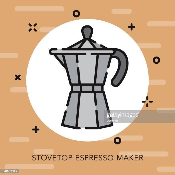 Espresso Maker Open Outline Coffee & Tea Icon