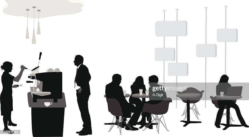 Espresso Vector Silhouette : stock illustration
