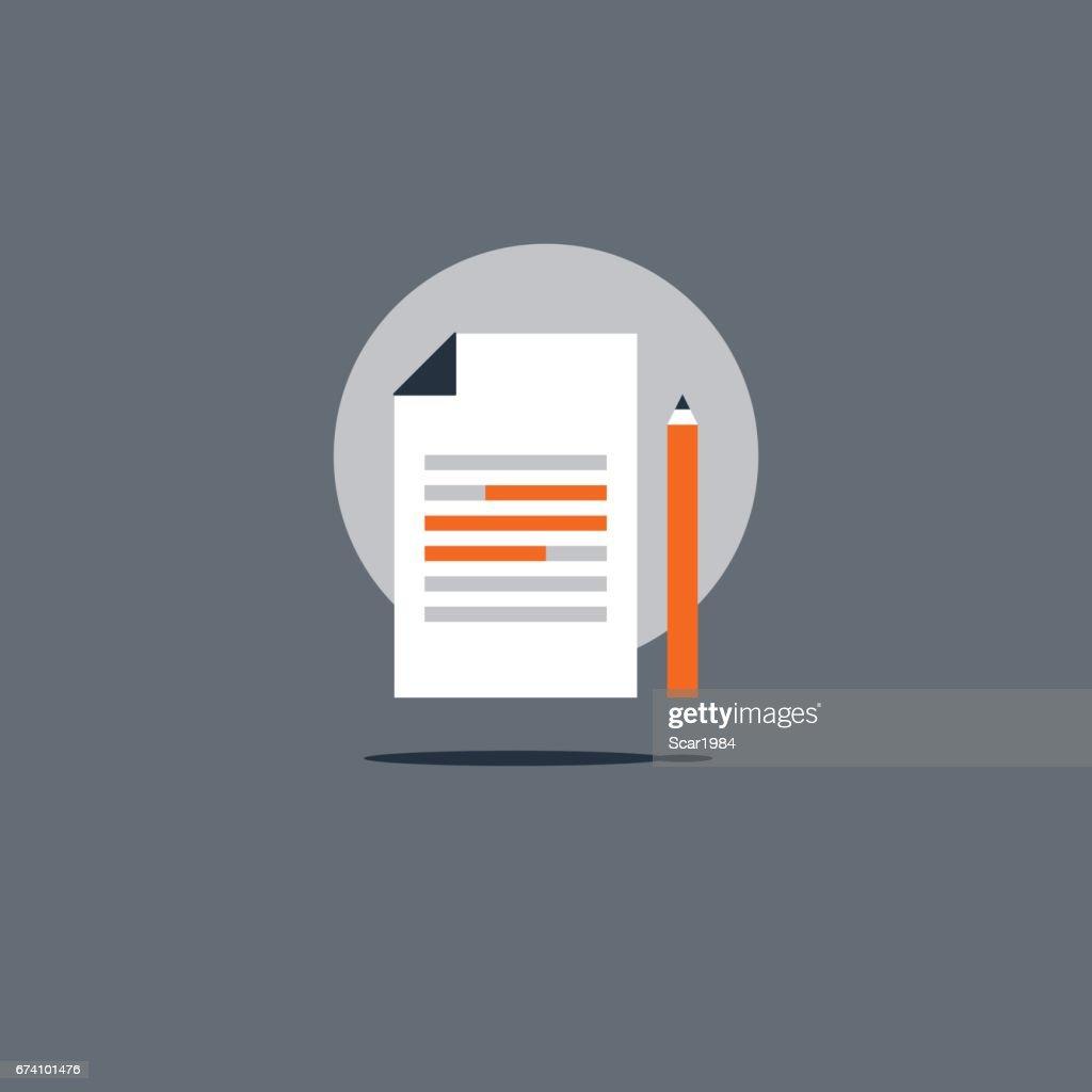 Essay Schreibensymbol Bildungskonzept Kreativen Storytelling ...