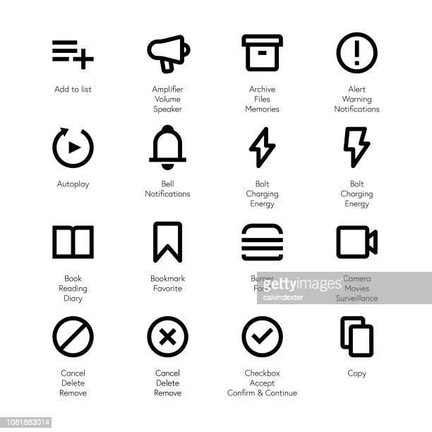 Essential line icons set 1
