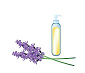 Essential oil and Beautiful Purple Lavender Flowers