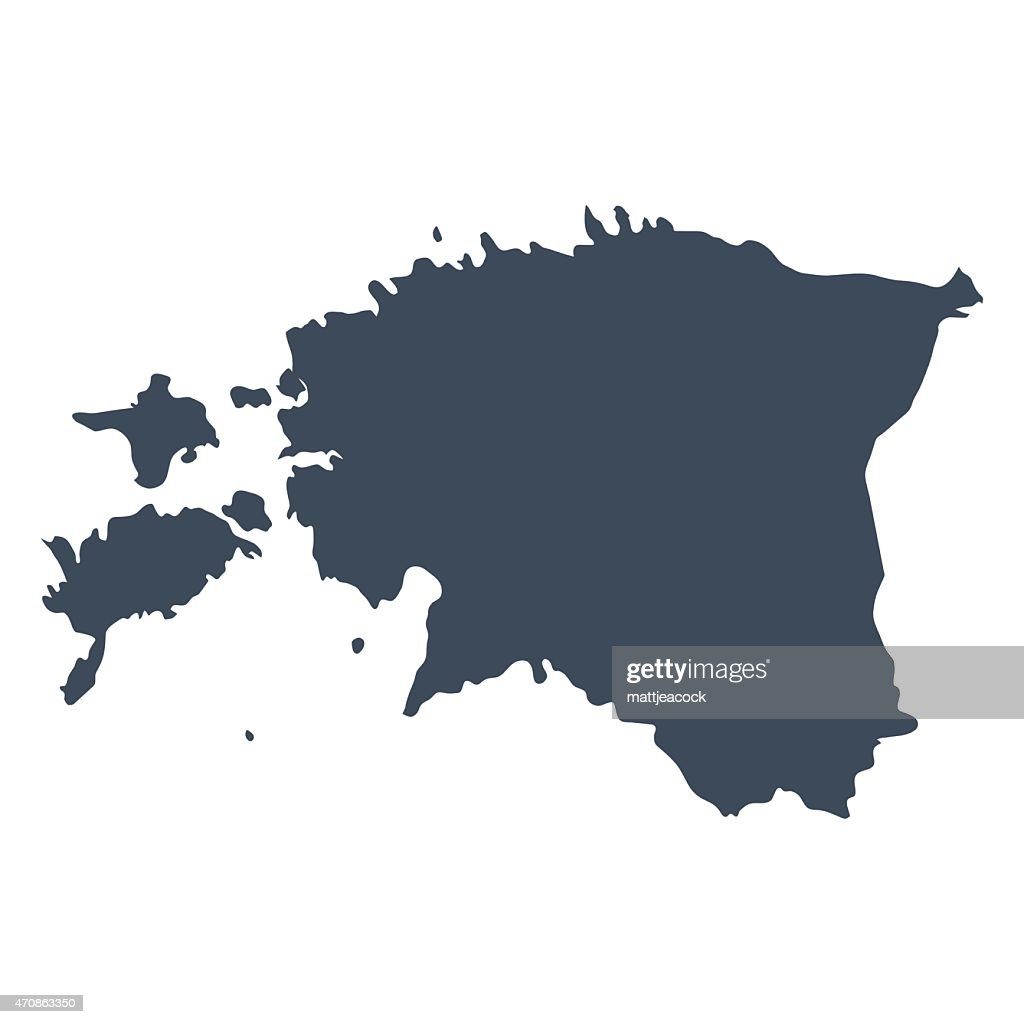 Estonia landmass country map vector art getty images estonia landmass country map vector art gumiabroncs Choice Image