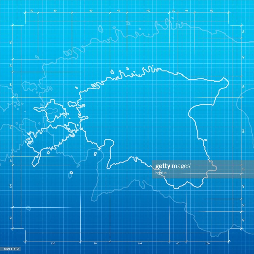 Estonia map on blueprint background vector art getty images estonia map on blueprint background vector art malvernweather Image collections