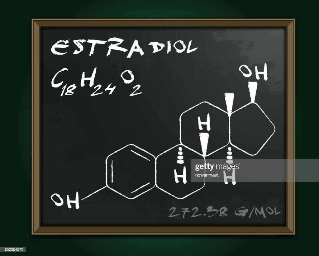 Estradiol molecule image