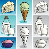 Etched Style Dairy Products