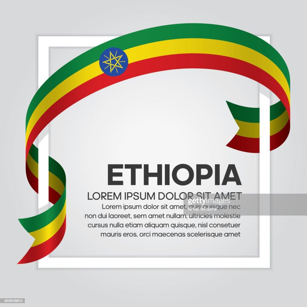 Ethiopia flag background