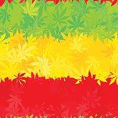 Ethiopia flag seamless pattern. Jamaica reggae music vector. Colorful africa